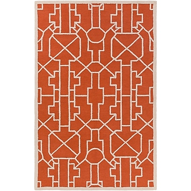 Artistic Weavers Marigold Leighton Hand-Crafted Poppy Red Area Rug; 5' x 7'6''