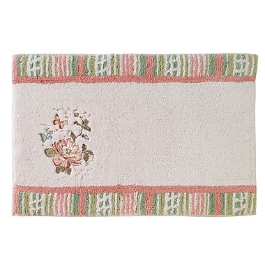 Avanti Linens Butterfly Garden Shower Bath Rug