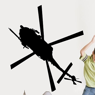 Wallhogs Haynes Silhouette Helicopter XI Cutout Wall Decal