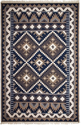 Fab Habitat Heritage Hand-Knotted Brown/Blue Area Rug; 3' x 5'