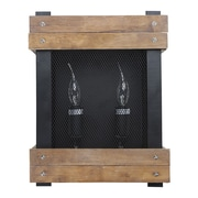 LNCHome Rustic Wood Indoor 2-Light Candle Sconce