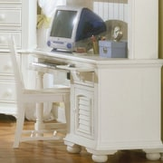 American Woodcrafters Cottage Traditions Computer Desk; Eggshell White