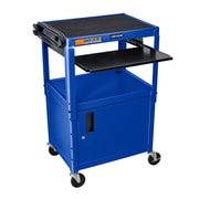 Offex Metal AV Cart; Blue