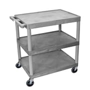 Offex 3 Shelf Utility Cart; Gray