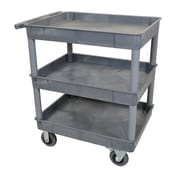 Offex 3 Shelf Tub Utility Cart; Gray