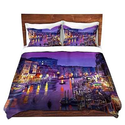 DiaNocheDesigns Romantic Venice Night Duvet Set; Twin