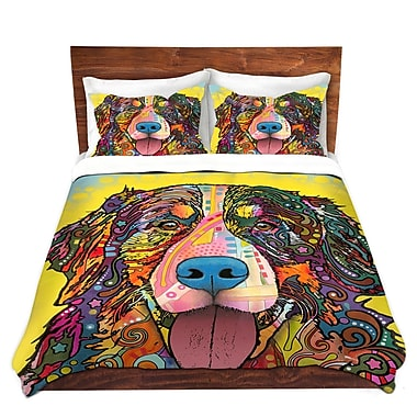 East Urban Home Bernese Mountain Duvet Set; Queen