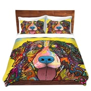 DiaNocheDesigns Bernese Mountain Dog Duvet Set; King