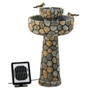 Zingz & Thingz Two-Tier Cobblestone Solar Water Fountain