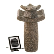 Zingz & Thingz Temple Sculpture Solar Water Fountain