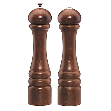Chef Specialties Imperial Pepper Mill and Salt Shaker Set; Walnut