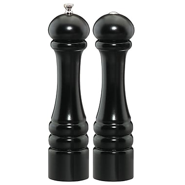 Chef Specialties Imperial Pepper Mill and Salt Shaker Set; Ebony