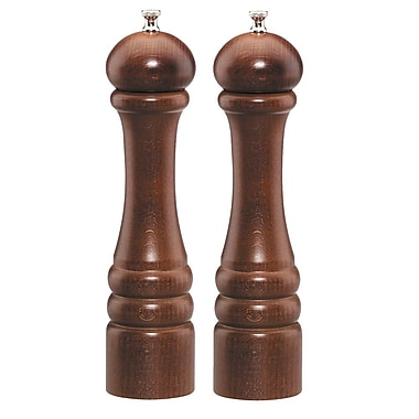 Chef Specialties Imperial Pepper Mill and Salt Mill Set; Walnut