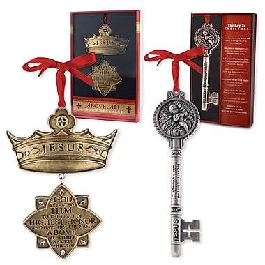 LighthouseChristianProducts 2 Piece Key & Crown Ornaments Set