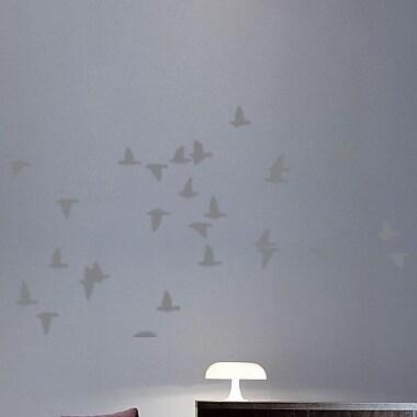 Wallhogs Flocking Birds Sihouette Wall Decal; Gray