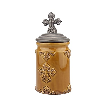 CKK Home D cor, LP Accents of Faith Worn Cross Kitchen Canister; Small