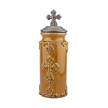 CKK Home D cor, LP Accents of Faith Worn Cross Kitchen Canister; Large