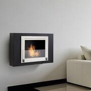 Eco-Feu Wellington Wall Mount Ethanol Fireplace; Gloss White