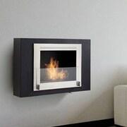 Eco-Feu Wellington Wall Mount Ethanol Fireplace; Matte Black