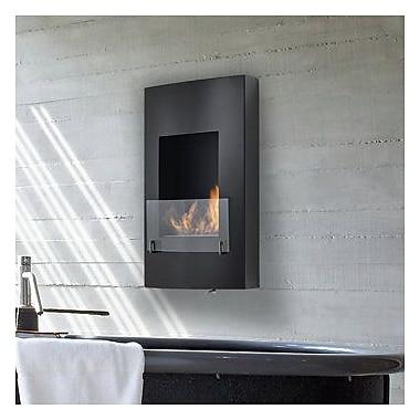 Eco-Feu Hollywood Wall Mount Ethanol Fireplace; Black