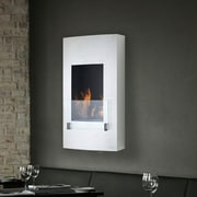 Eco-Feu Hollywood Wall Mount Ethanol Fireplace; Stainless Steel