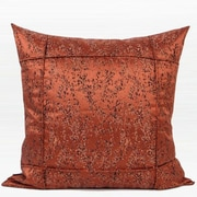 G Home Collection Luxury Abstract Pattern Frame Jacquard Pillow Cover; Red Brown