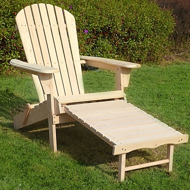 Merry Products Adirondack Chair w/ Pullout Ottoman