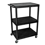 Offex Endura 3 Shelf Utility Cart; 48.25'' H x 32'' W x 24'' D