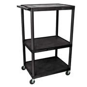 Offex Endura 3 Shelf Utility Cart; 54.25'' H x 32'' W x 24'' D