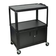 Offex Adjustable Height Steel AV/Computer Cart