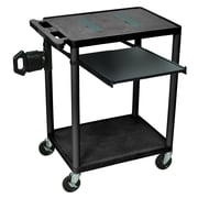 Offex Endura 2 Shelf and Tray Computer Cart by