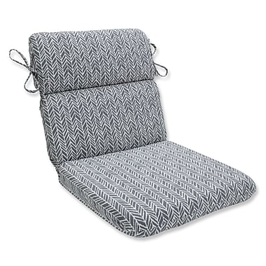 Pillow Perfect Herringbone Chaise Lounge Cushion; Slate
