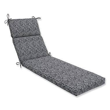 Pillow Perfect Herringbone Chaise Lounge Cushion; Black