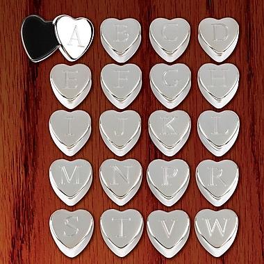 Zingz & Thingz Decorative Monogram Heart Keepsake Boxes