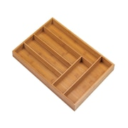 Zingz & Thingz Bamboo Cutlery 6 Place Tray Organizer