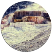 DesignArt 'Hot Springs in Yellowstone' Seashore Photographic Print on Metal; 11'' H x 11'' W x 1'' D