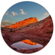 DesignArt 'Vermillion Cliffs Lake in Morning' Landscape Photographic Print on Metal