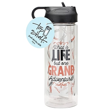 Top Shelf What's Life but One Grand Adventure Glass 13 oz. Water Bottle