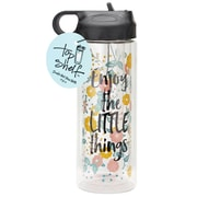 Top Shelf Enjoy the Little Things Glass 13 oz. Water Bottle