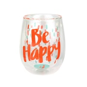 Top Shelf Be Happy 13 oz. Stemless Wine Glass