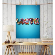Artzee Designs Modern Quote ''International Unite'' Graphic Art on Wrapped Canvas