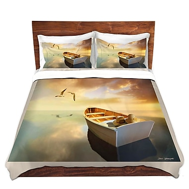 DiaNocheDesigns The Lovers Birds and Boats Duvet Set; Twin
