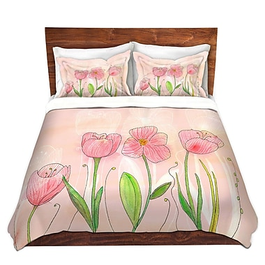 East Urban Home Flowers Duvet Set; Queen