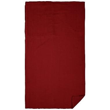 Clara Clark Cotton Beach Towel; Burgundy Red