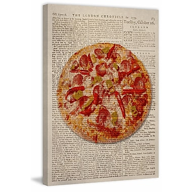 Marmont Hill 'Spicy Pizza' Painting Print on Canvas; 30'' H x 20'' W x 1.5'' D