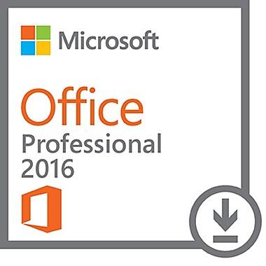 Microsoft – Office Professionnel 2016, 1 PC, anglais [Téléchargement]