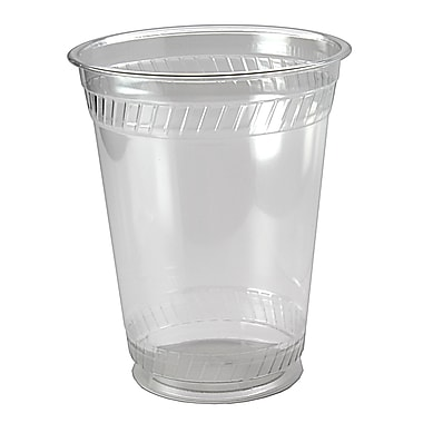 Fabri-Kal Greenware Squat Plastic Cups, 16/18 oz., Clear, 1000/Case