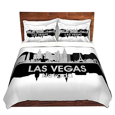 East Urban Home Las Vegas Nevada Duvet Set; King