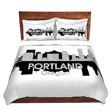 East Urban Home Portland Oregon Duvet Set; Twin