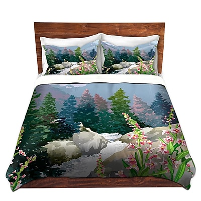 DiaNocheDesigns Mountain Stream Duvet Set; Twin